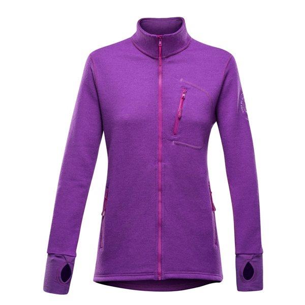 Devold mikina Thermo woman jacket Barva: fialová, Velikost nebo typ: S