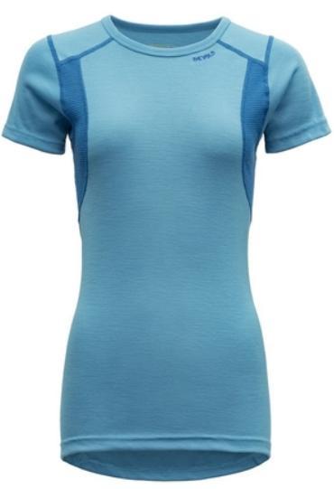 Devold triko HIKING WOMAN T-shirt Barva: modrá (heaven), Velikost nebo typ: S