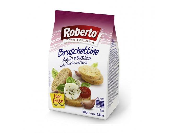 Bruschettine aglio e basilico 100 g
