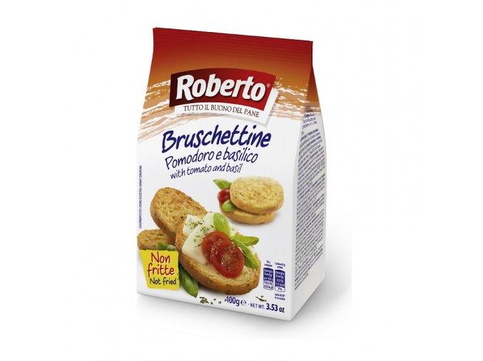 Bruschettine pomodoro e basilico 100 g