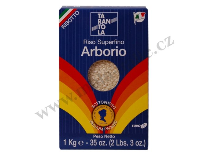Výběrová rýže na rizoto Arborio 1kg Tarantola