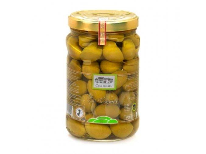 Olivy velké zelené v nálevu 1,7 kg