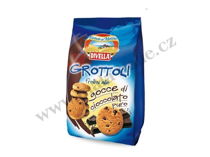Sušenky GROTTOLLI s čokoládou 400g