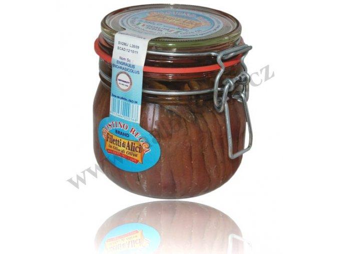 Filetti di alici - filátka ančoviček 580 g