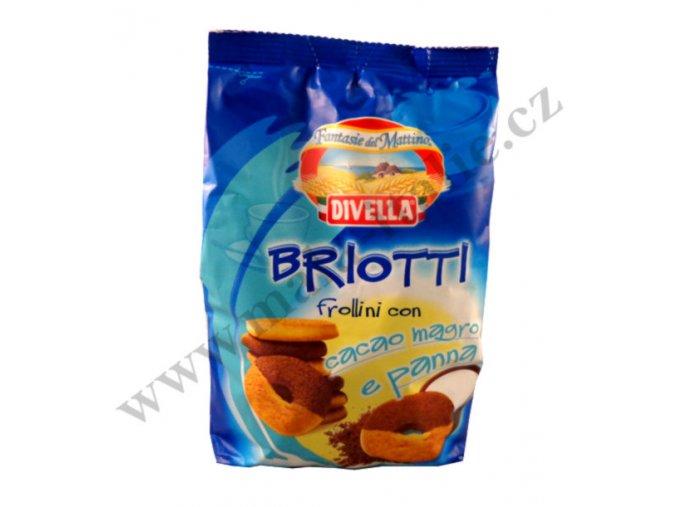 Sušenky Briotti s kakaem a smetanou 400g