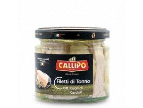 Callipo Filetti di Tonno CON g.200 Carciofi vaso vetro
