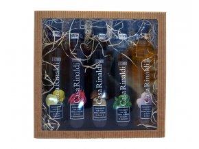 Dárková kazeta - 5 ochucených olivových olejů