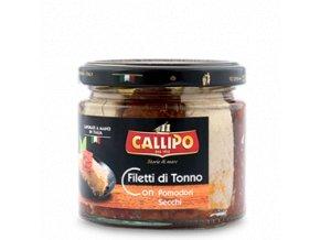 Callipo Filetti di Tonno CON g.200 pomodori secchi vaso vetro
