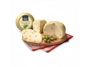 Čerstvý sýr z kravského mléka s olivami 1 kg