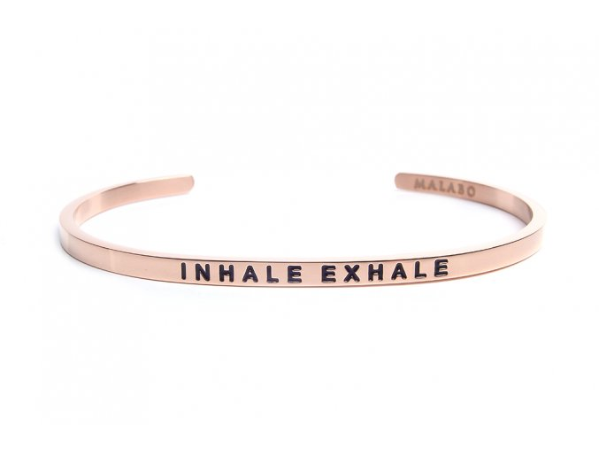 Inhale exhale rose gold web