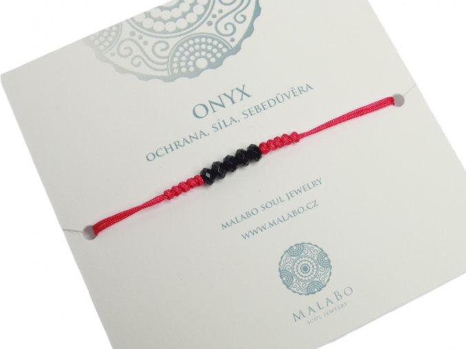 šňůrkový náramek Onyx