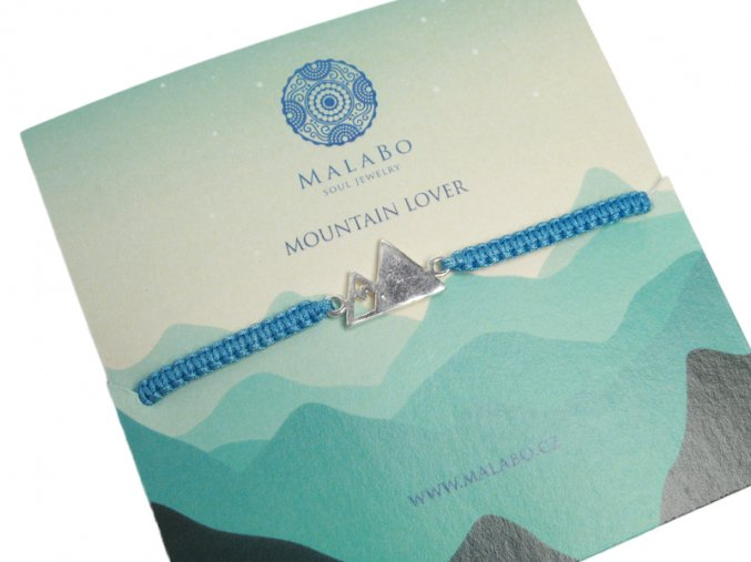MOUNTAIN LOVER NÁRAMEK  modrá šňůrka