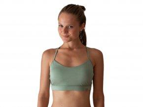 Ananda yoga bra shiny  green
