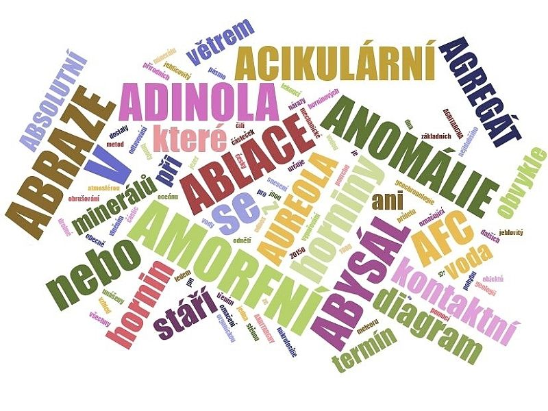 A - geologický slovník