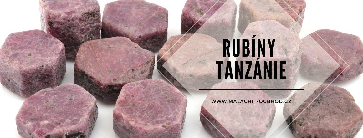 Krystaly rubínu z Tanzánie