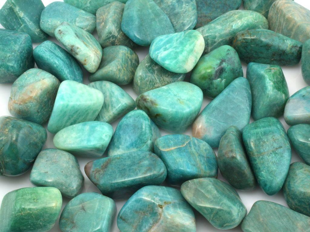 amazonity tromlované kameny