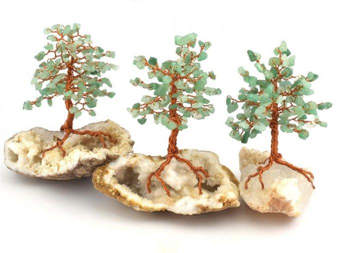 Stromeček štěstí, avanturín na křišťálu