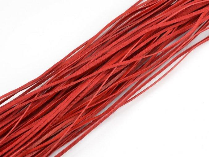 Kožený řemínek červený 1ks