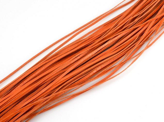 Kožený řemínek oranžový 1ks