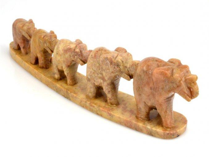 Pět slonů v řadě (1ks)