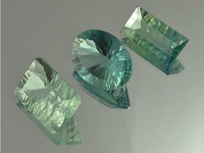 Broušený fluorit 3ks (5)