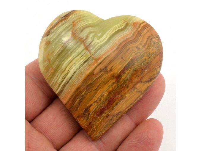 srdce z aragonitu 6cm 3