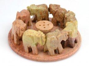 Sloni v kruhu - stojánek na vonné tyčinky (1ks)