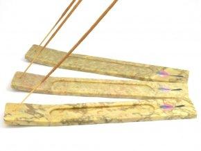 Stojánek na vonné tyčinky - zelenkavý (1ks)