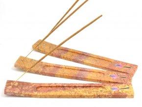 Stojánek na vonné tyčinky - červený (1ks)