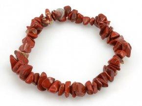 Náramek sekaný, Jaspis červený