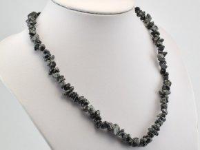 sekany nahrdelnik obsidian vlockovy