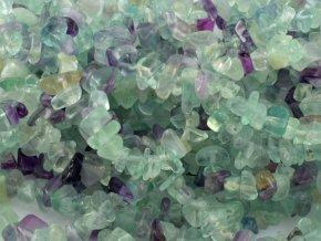 Fluorit - sekané korálky 10cm