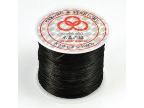 Gumička na náramky 60m (černá)