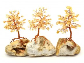 Stromeček štěstí, citrín na křišťálu