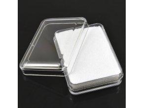 Krabička plastová, průhledná (bílá)
