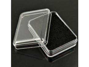 Krabička plastová, průhledná (černá)