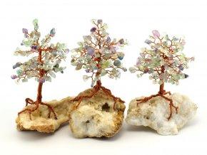 Stromeček štěstí, fluorit na křišťálu