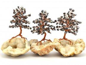 Stromeček štěstí, hematit na křišťálu