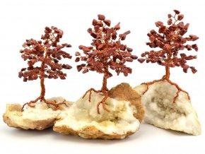 Stromeček štěstí, jaspis na křišťálu