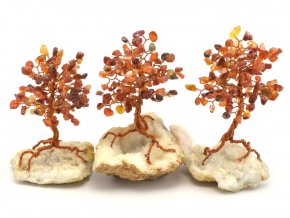 Stromeček štěstí, karneol na křišťálu