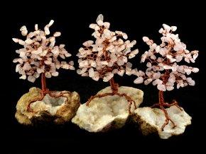 Stromeček štěstí, růženín na křišťálu