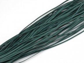 Kožený řemínek tmavě zelený 1ks