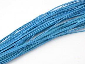 Kožený řemínek světle modrý 1ks