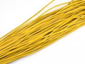 Kožený řemínek žlutý 1ks