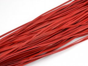 Levný kožený řemínek červený 1ks
