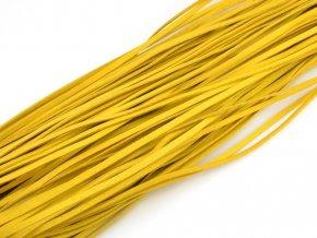 Levný kožený řemínek žlutý 1ks