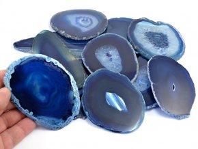 Achátový plátek modrý (8-10cm) 1ks