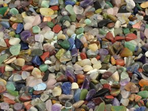 Mini tromlované kameny mix 500g (0,3-1,5cm)