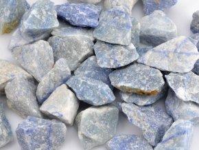 Surový modrý křemen - 10ks kamenů
