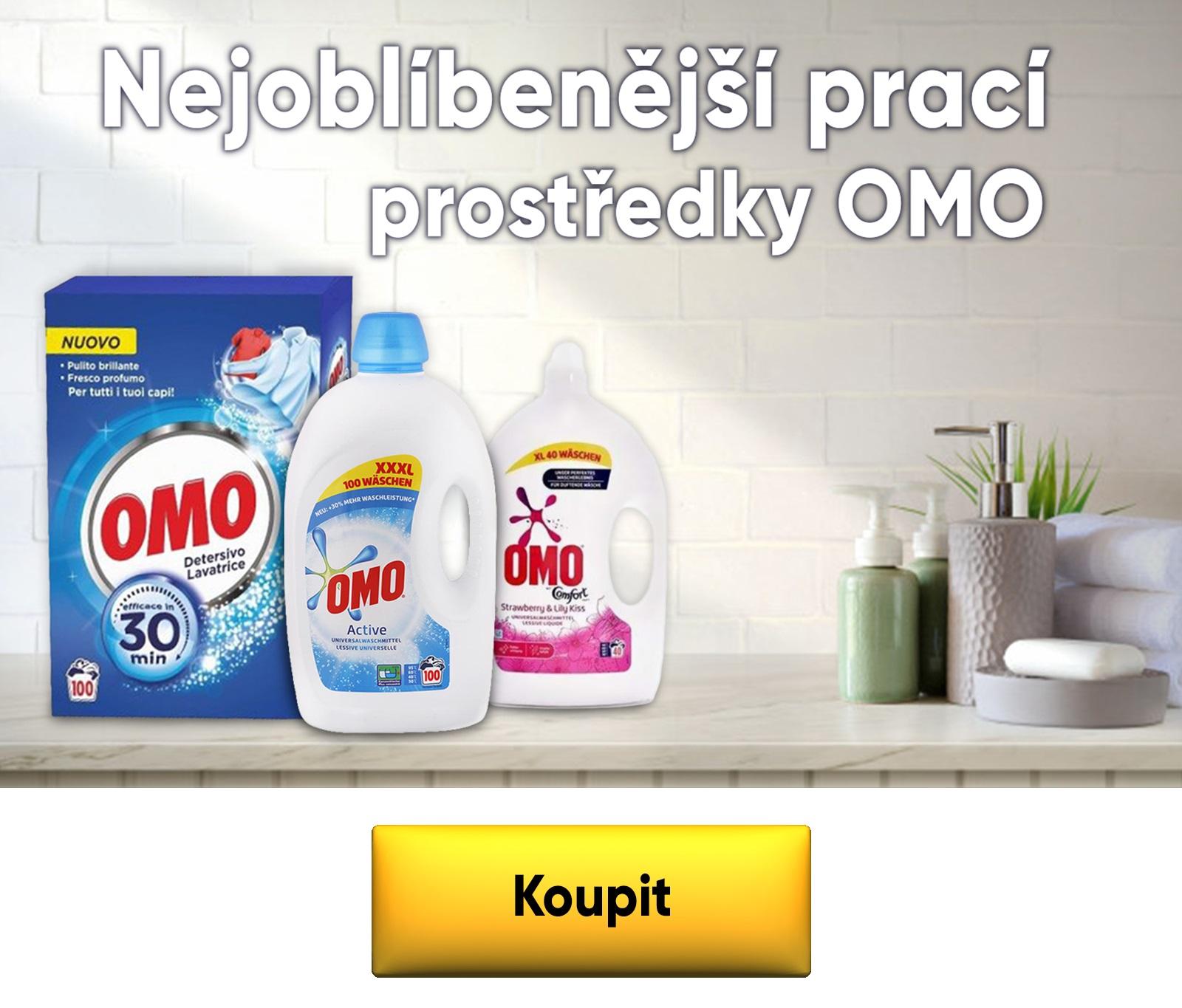 Kvalitní praní s prášky a gely OMO